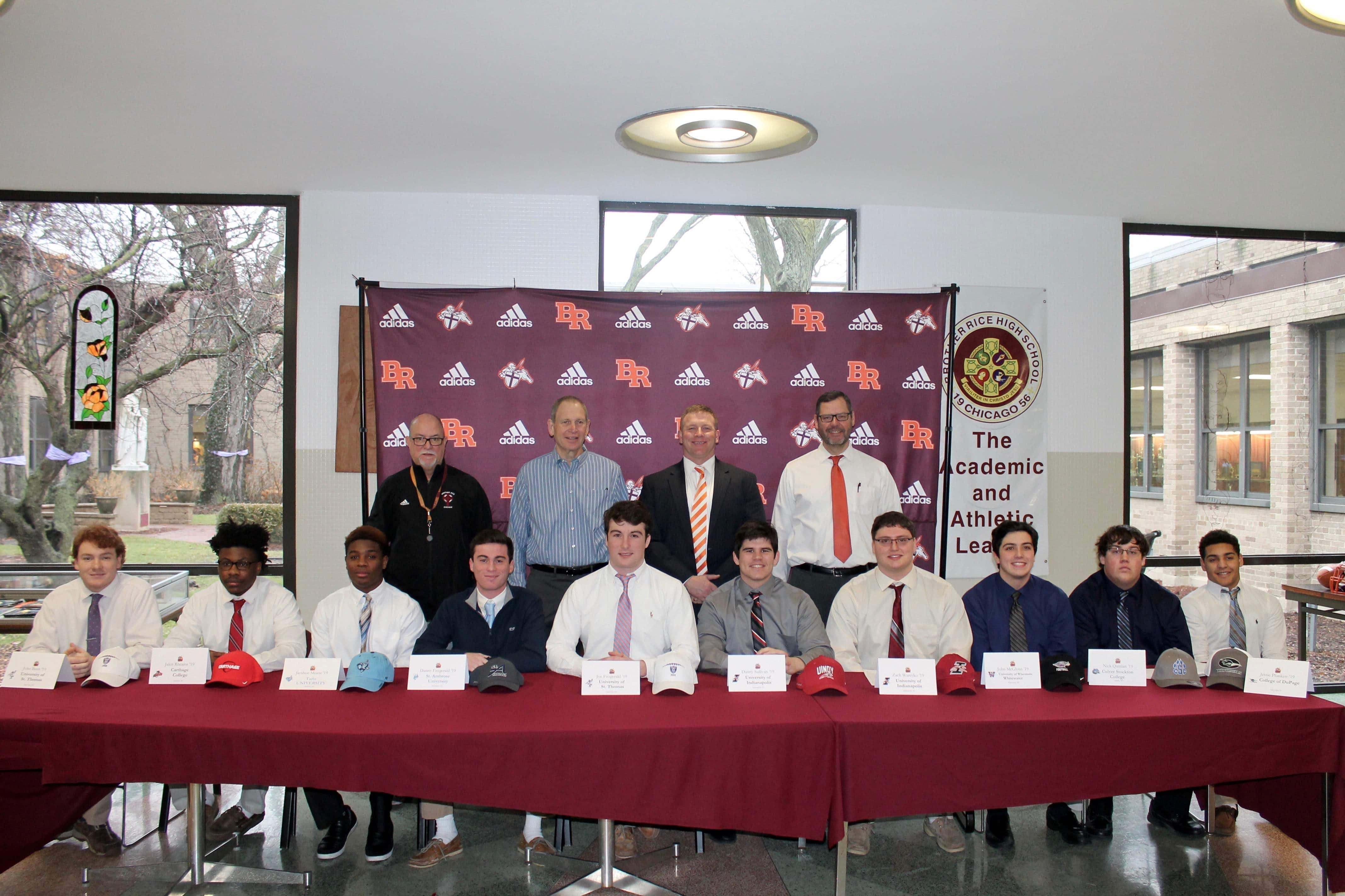 More Play Or More Academics For >> Ten More Crusaders Sign To Play Football Collegiately Brother Rice